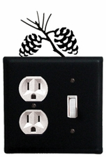 Outlet and Switch Cover, Pinecones, Wrought Iron