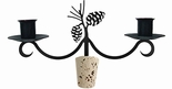 Pinecone - Wrought Iron Wine Bottle Topper - Candelabra