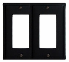 Double GFI Cover, Wrought Iron