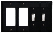 Double GFI & Double Switch Cover, Wrought Iron
