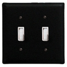 Double Switch Cover, Wrought Iron