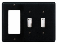 GFI and Double Switch Cover, Wrought Iron