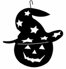 Pumpkin / Hat Silhouette, Hanging Art, Wrought Iron