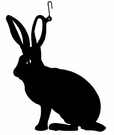 Rabbit / Bunny Silhouette, Hanging Art, Wrought Iron