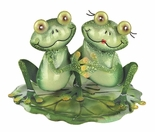 Romantic Frog Couple, Holding Hands, Tabletop Decoration