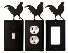 OUTLET, GFI, SWITCH COVERS, ROOSTER, WROUGHT IRON