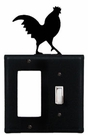 GFI and Switch Cover, Rooster, Wrought Iron