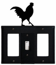 GFI, Switch and GFI Cover, Rooster, Wrought Iron
