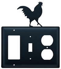 GFI, Switch and Outlet Cover, Rooster, Wrought Iron