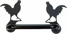 Cabinet Door Handle, Horizontal, Rooster, Wrought Iron