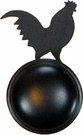 Cabinet Door / Drawer Knob, Rooster, Wrought Iron
