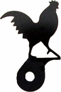 Silhouette for Cabinet Door, Rooster, Black Wrought Iron