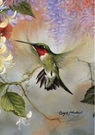 Garden Flag, Hummingbird, Ruby Throated Honey