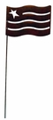 Lawn / Garden Stake, American Flag, Rusted, Natural