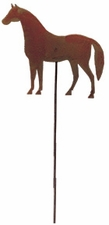 Lawn / Garden Stake, Horse, Rusted, Natural