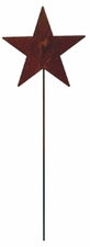 Lawn / Garden Stake, Star, Rusted, Natural