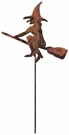 Lawn / Garden Stake, Witch, Halloween, Rusted, Natural