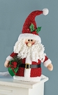 Santa Claus, Plush Christmas Decoration