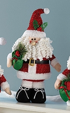 Santa Claus, Plush Christmas Decoration, Black Boots