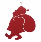 Santa Claus Silhouette, Hanging Art, Wrought Iron