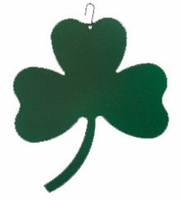 Shamrock Silhouette, Hanging Art, Wrought Iron