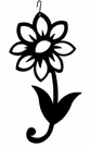 Shasta Daisy Silhouette, Hanging Art, Wrought Iron