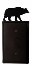 Single Electrical Cover, Bear, Wrought Iron