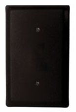 Single Electrical Cover, Blank, Wrought Iron