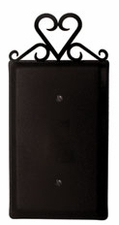 Single Electrical Cover, Heart, Wrought Iron