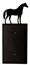 Single Electrical Cover, Horse, Wrought Iron