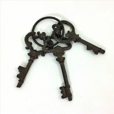 Skeleton Keys, Rustic Cast Iron, Set of 3