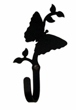 Wall Hook, Butterfly, Wrought Iron
