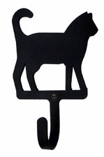 Wall Hook, Cat, Wrought Iron