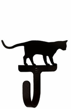 Wall Hook, Cat at Play, Wrought Iron
