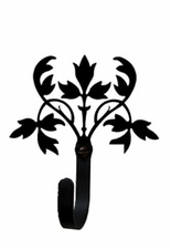 Wall Hook, Floral, Wrought Iron