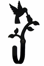 Wall Hook, Hummingbird, Wrought Iron