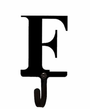 Wall Hook, Letter F, Alphabet, Wrought Iron