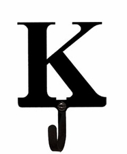 Wall Hook, Letter K, Alphabet, Wrought Iron