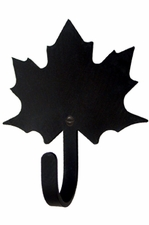 Wall Hook, Maple Leaf, Wrought Iron