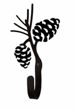 Wall Hook, Pinecone, Wrought Iron