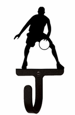 Wall Hook, Basketball Player, Wrought Iron