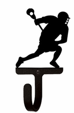 Wall Hook, Lacrosse Player, Wrought Iron