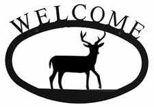 Welcome Sign, Deer, Wrought Iron, Small