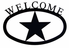 Welcome Sign, Star, Wrought Iron, Small