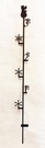 Snow Gauge, Wrought Iron, Snowman, 3 Foot