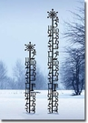 SNOW GAUGES, WROUGHT IRON with SNOWFLAKE SILHOUETTE