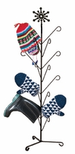 Boot / Mitten Dryer, Snowflake, Wrought Iron