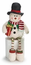 Snowman Shelf Sitter Plush Christmas Holiday Decoration, Top Hat