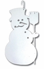 Snowman Silhouette, Hanging Art, Wrought Iron