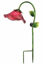 Solar Light, Garden Stake, Bell Flower, Pink